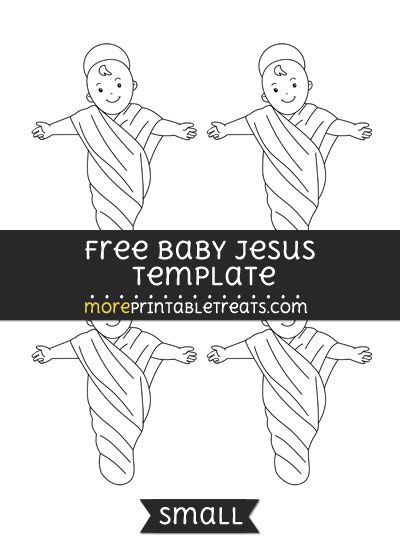 free baby jesus template small shapes and templates printables