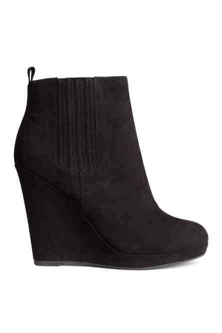 868f8d00402bf Bottines à talon compensé H M   chaussures   Pinterest   Talons ...
