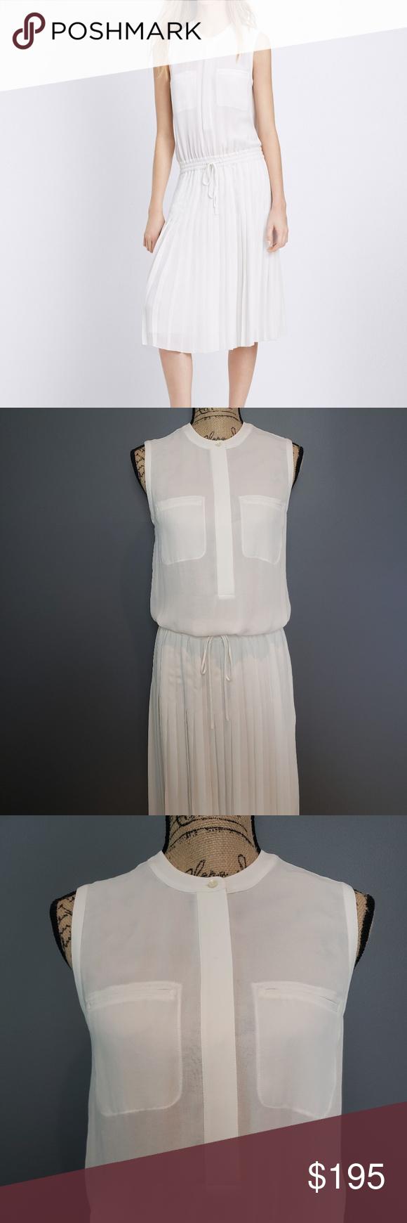 Vince Midi White Plated Dress Xs Gorgeous Dresses Dresses Dresses Xs [ 1740 x 580 Pixel ]
