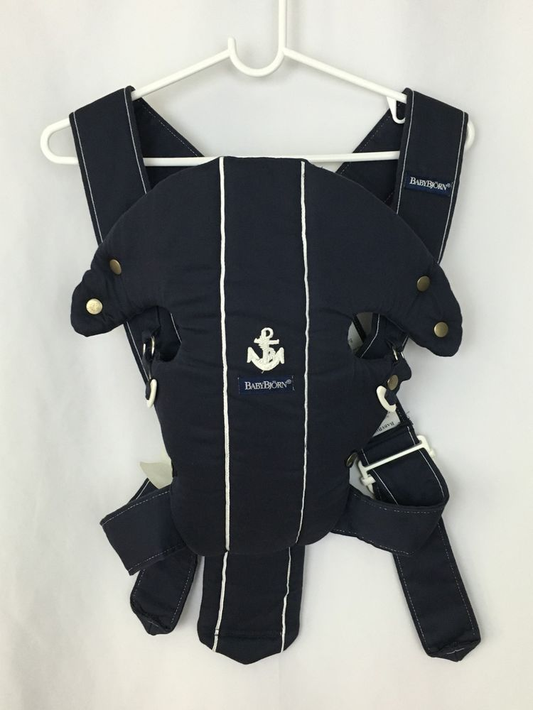 aa5a008d9ab Baby Bjorn Nautical Navy Blue White Stripes with Anchor Infant Baby Carrier