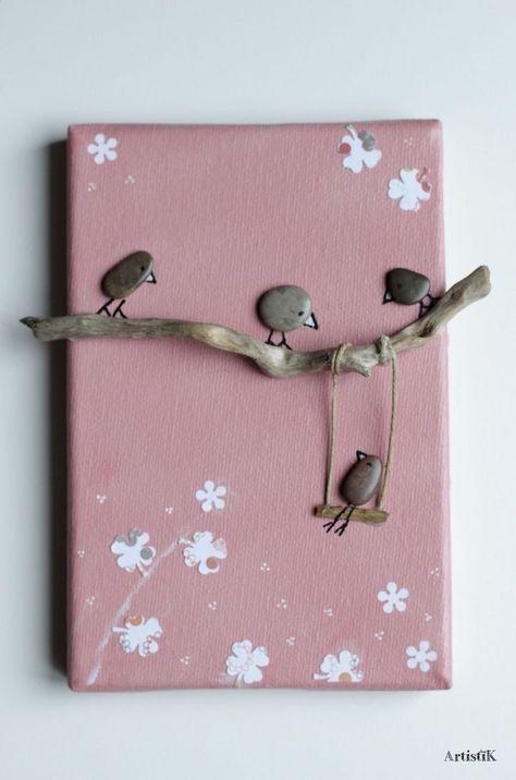 Tabelle Kiesel Vögel Treibholz Hintergrund Rosa ... - # Holz # Kind # Float # ... - #holzarbeitenideen #håndarbejde