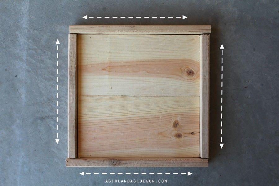How to make wood frames! Step by Step | Glue guns, Guns and Woods