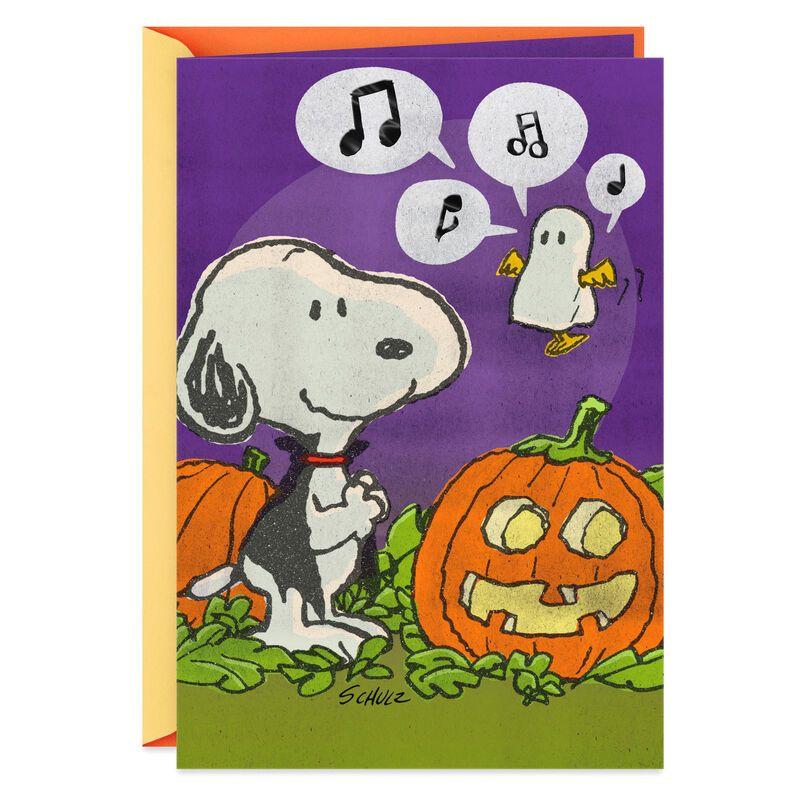 Halloween Christmas 2020 Tweets Snoopy and Woodstock Wish You Tweets Halloween Card in 2020