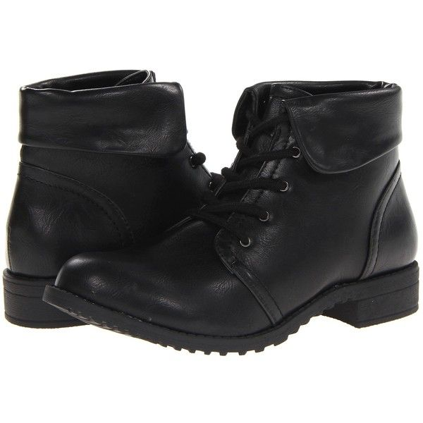 Cliffs by White Mountain Tango Black Smooth Womens Laceup Boots 32