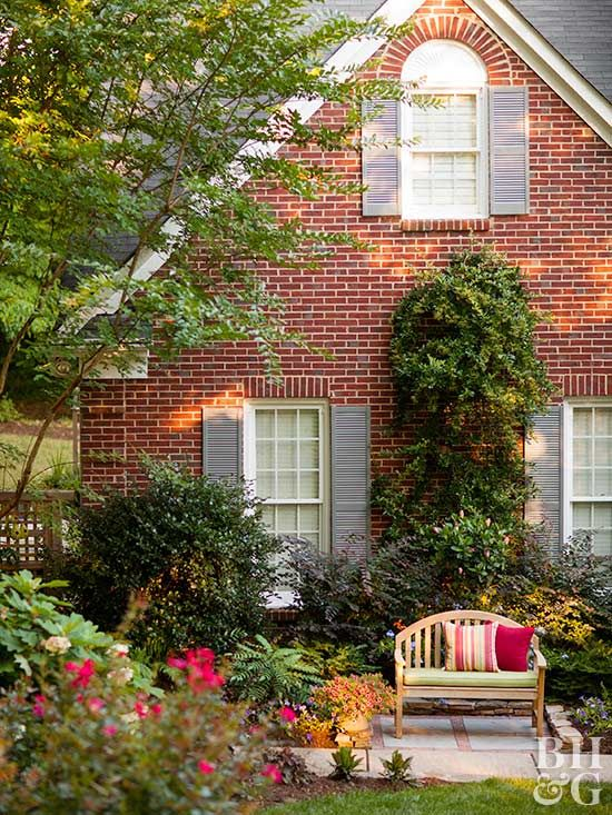 16 Easy Ways To Create High End Curb Appeal For Less Red Brick House Brick Exterior House Red Brick House Exterior