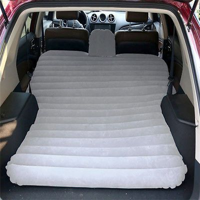 Suv Inflatable Mattress Air Bed Travel Car Back Seat Camping W