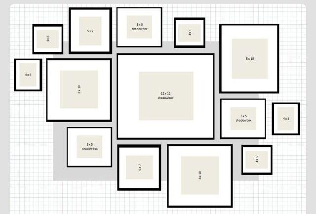 Bilderrahmen Fotogaleriewande Gerahmte Wand Wandgallerien