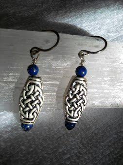 Blue Lapis Celtic Earrings by DawnWelburn on Etsy, $16.00
