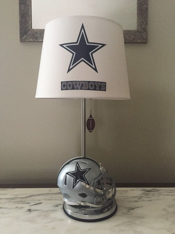 Total Height Of Lamp 19 Inches And The Lampshade Is 10 X 8 With A 7 Inch Slope Dallas Cowboys Decor Dallas Cowboys Room Dallas Cowboys Bedroom