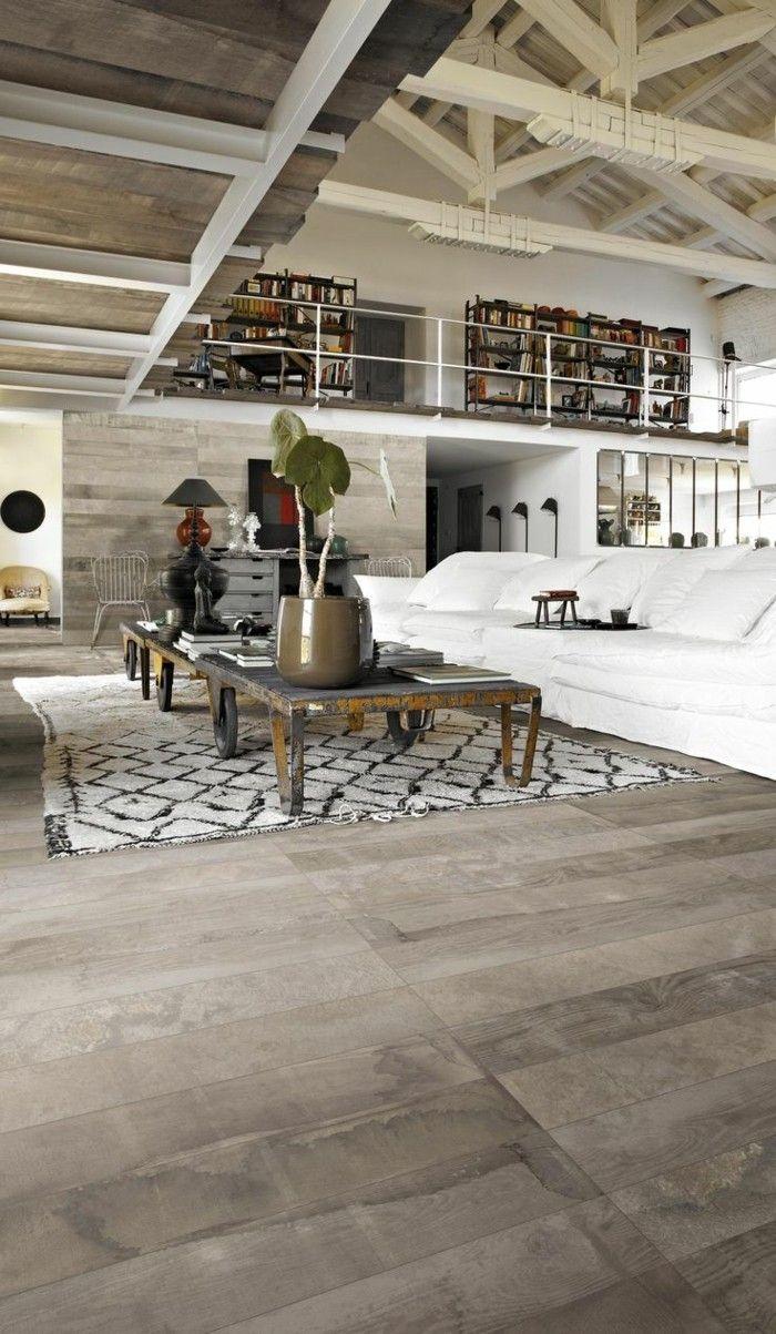 joli salon sous pente et meuble style industriel pas cher. Black Bedroom Furniture Sets. Home Design Ideas