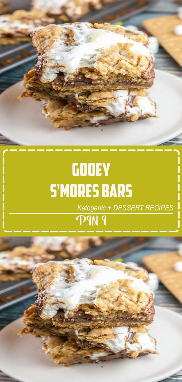 Gooey S'mores Bars Gooey S'mores Bars: Make your s'mores easy to share at summer picnics by baking them in bar form with a layer of graham cracker cookie crust, melted chocolate, and sticky marshmallows.