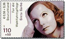 A German postage stamp featuring Garbo