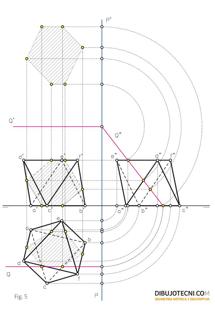 Sección Producida Por Un Plano Paralelo A La Línea De Tierra Técnicas De Dibujo Geometría Descriptiva Arte De Geometría