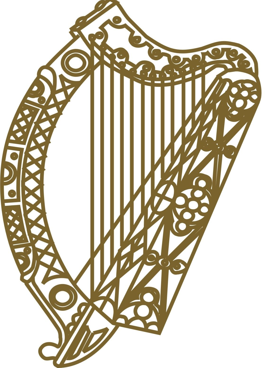 Irish harp inside the heart on the claddagh my irish world irish harp inside the heart on the claddagh buycottarizona Image collections