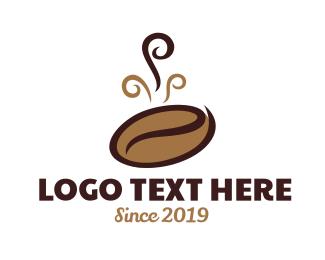Coffee Bean Cafe Logo Cafe Logo Logo Restaurant Natural Logo