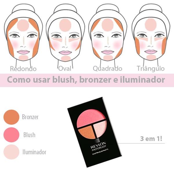Sabe Como Aplicar Blush Bronzer E Iluminador Makeup Maquiagem Maquillaje De Ojos Artistico Aplicando Bronceador Contorno Maquillaje