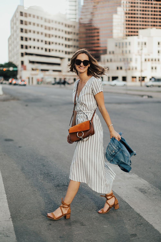 2d088dadd4c Striped Midi Wrap-Dress - LivvyLand