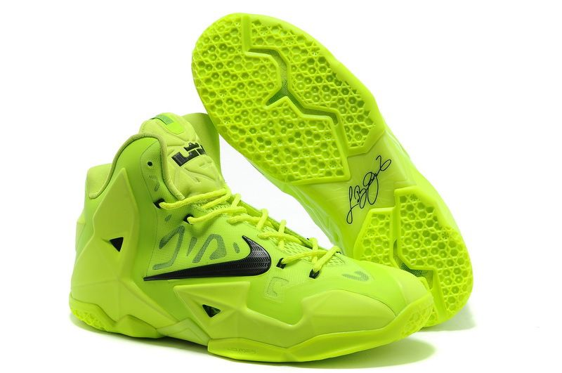 Cheap lebron 11 neon green black shoes for sale on www.cheaplebrons11.org