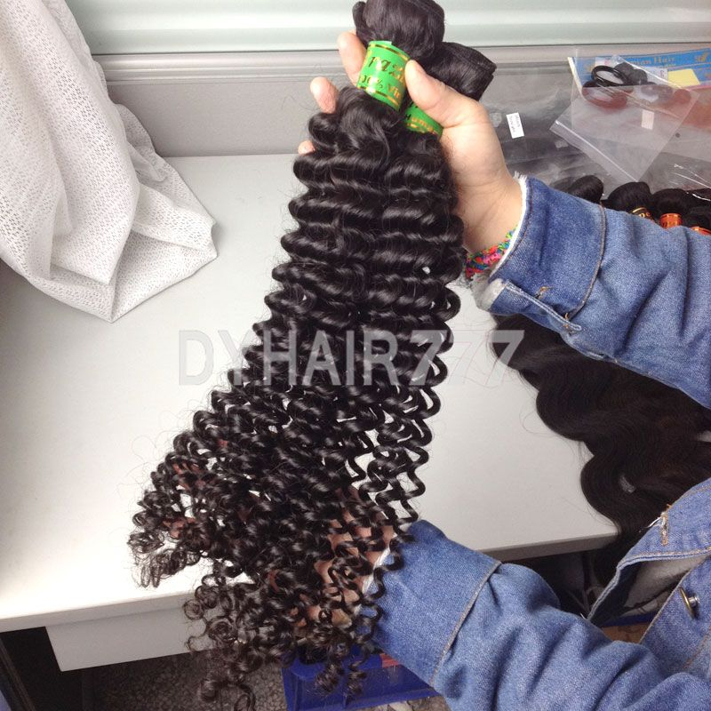 DYHair777 Brazilian deep curly human hair extensions. http://www.dyhair777.com/Brazilian-Virgin-Hair.html