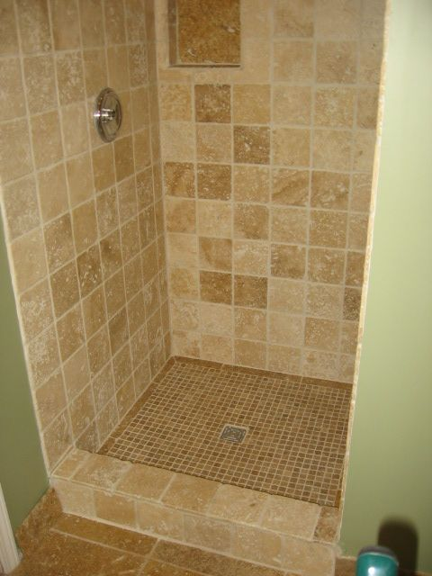 Tiled Shower Stalls | shower stall cost 89 tax bathroom shower ...