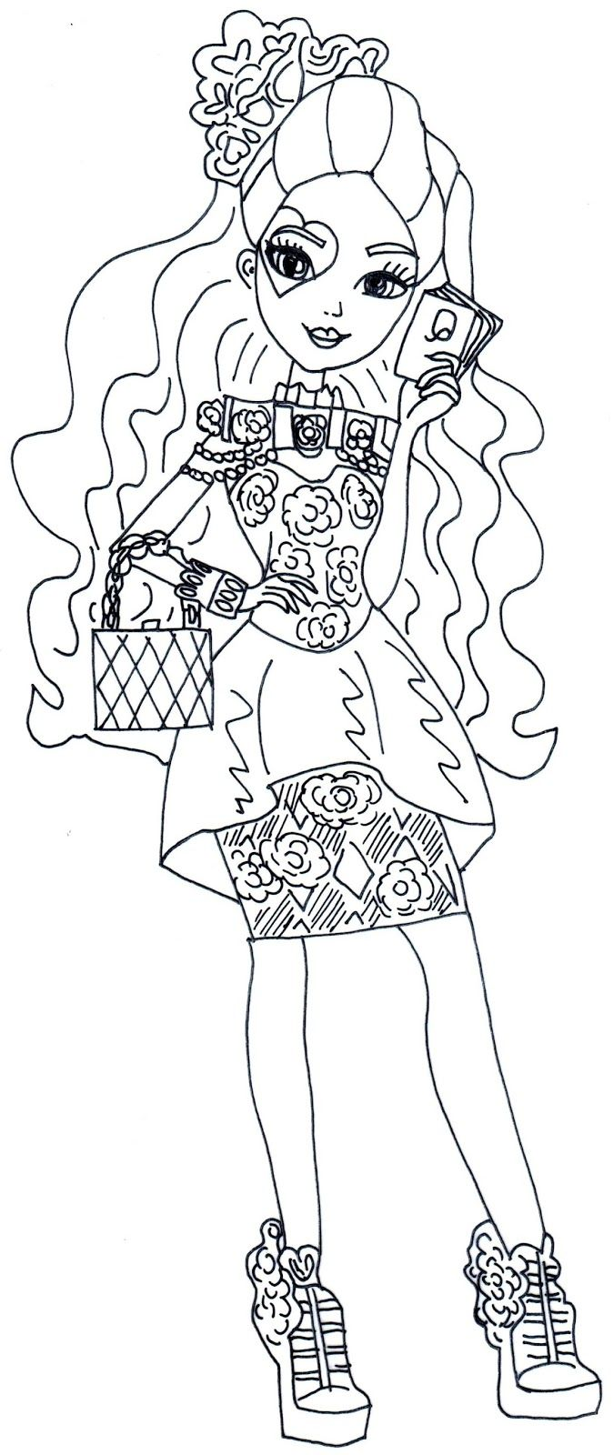 Spring Unsprung Lizzie Hearts Ever After High Coloring Page Jpg