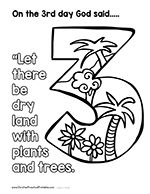 Days of Creation Coloring Pages | Christian preschool ...