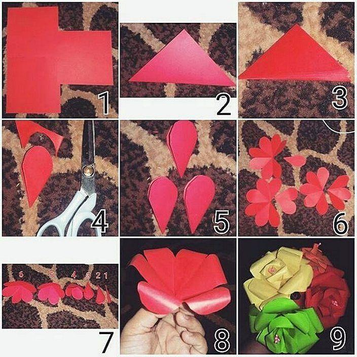 Cara Membuat Hiasan Dinding Sendiri Dari Kertas Origami