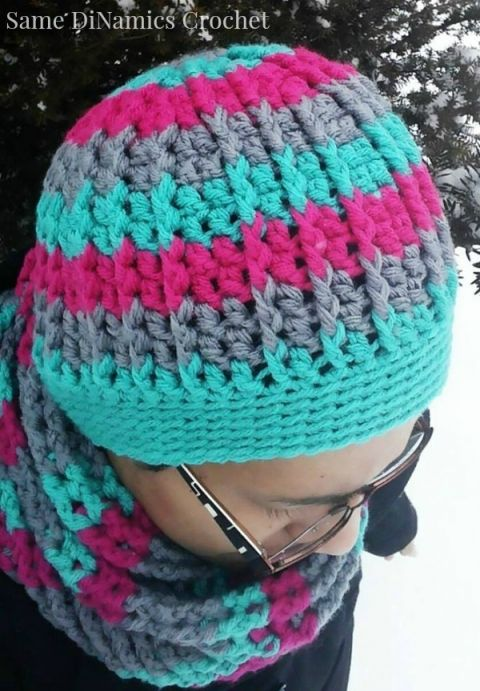 free crochet hat pattern cables and stripes | Crochet hats ...