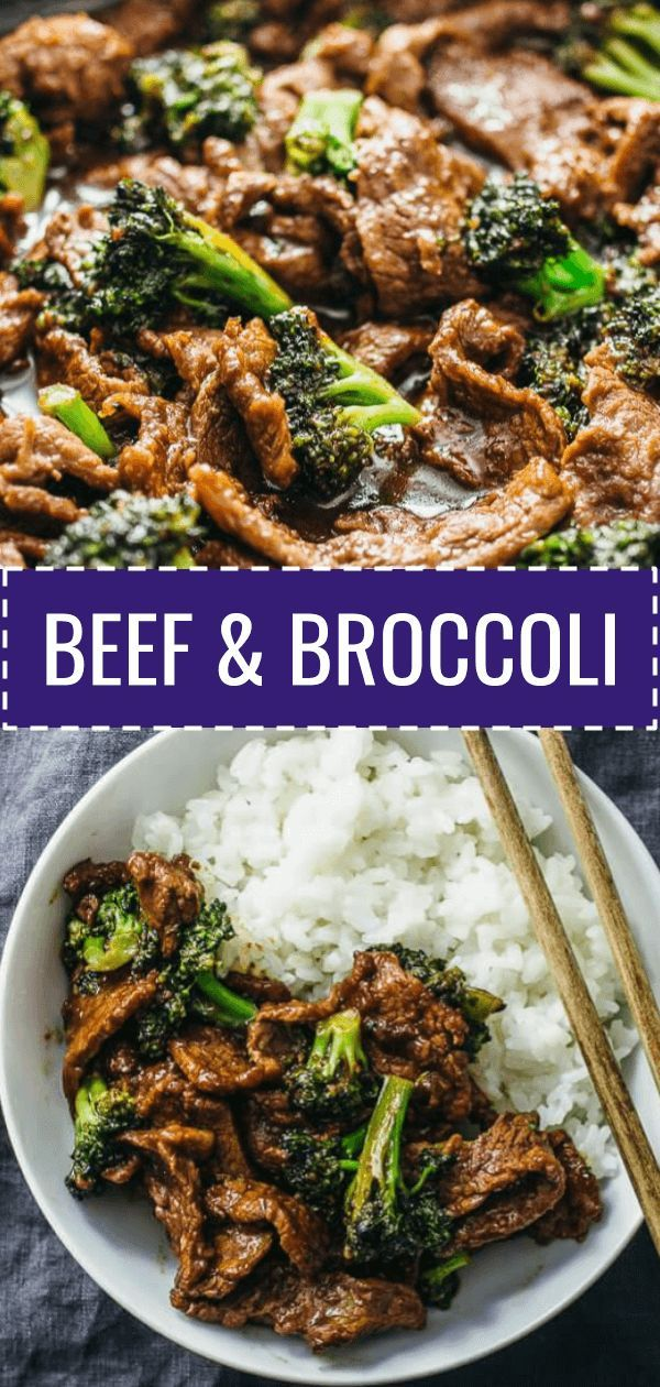 This beef and broccoli recipe is CRAZY GOOD. It's so easy and quick to make this authentic Chinese stir fry using flank steak seared on a skillet or wok. The sauce is simple to make and not spicy -- all you need are soy sauce, brown sugar, and corn starch. This recipe for two yields the best beef and broccoli bowl that you can pair with rice for a gluten free dinner. Perfect when you have Asian takeout cravings for Panda Express or PF Changs. #beef #recipe #dinner via @savory.tooth #beefandbroccoli