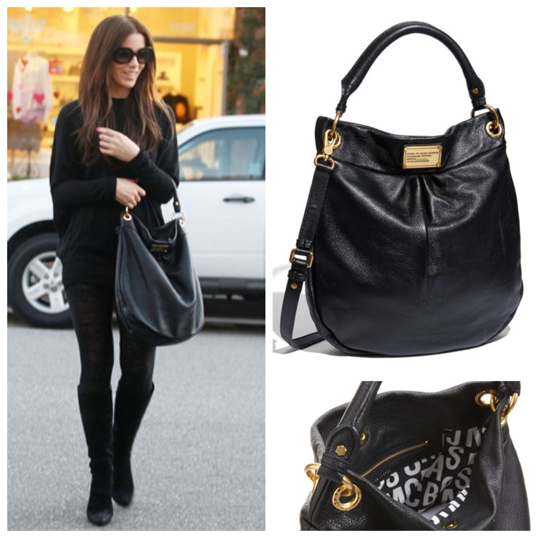 84e694cf63 Snag the bag for less! -- Kate Beckinsale spotted with black Marc Jacobs