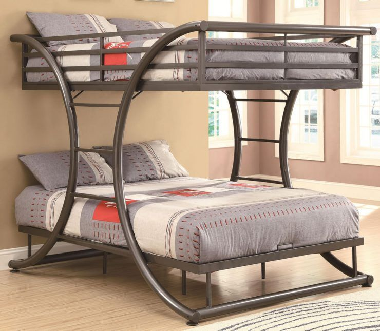Full Over Queen Metal Bunk Bed With Cool Design Cool Bunk Beds Metal Bunk Beds Bunk Bed Mattress