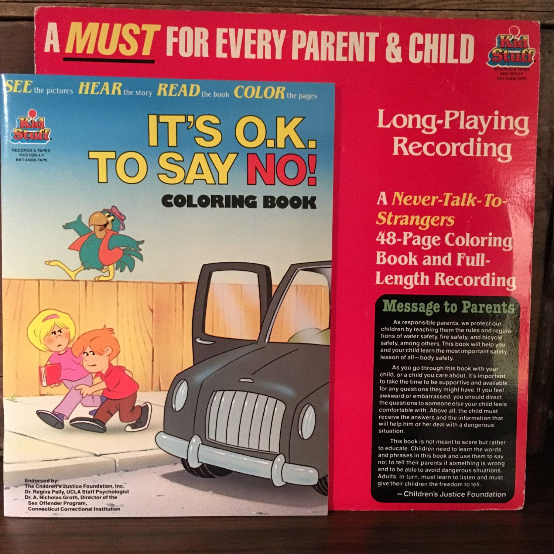 It S Ok To Say No Vinyl Lp Unused Coloring Book 1985 Etsy Coloring Books Books Coloring Book Set