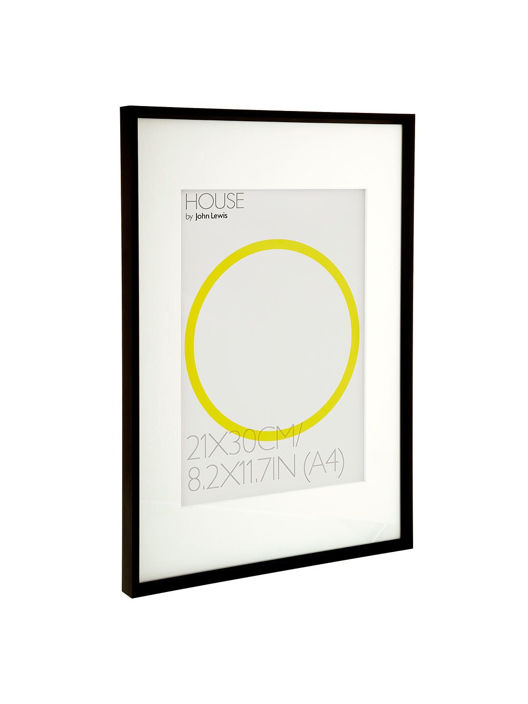 White A House by John Lewis A4 Photo Frame /& Mount