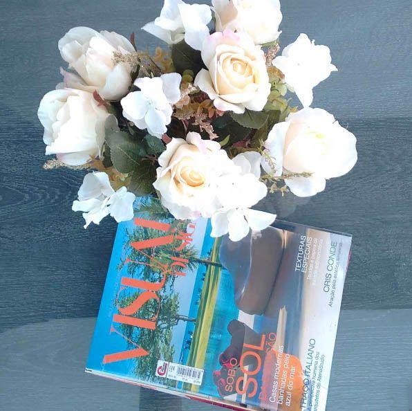 Revista e flores