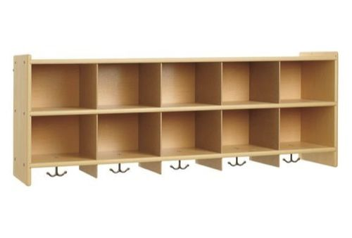 My Son Just Made 3 Of These For The Daycare Cubbies But With Only A Single Shelf Not Two Looks Clean And Well Organiz Daycare Decor Daycare Daycare Cubbies