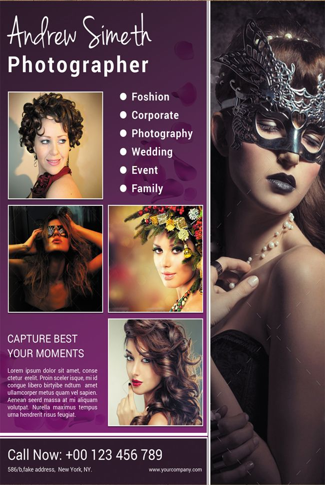 Fashion Photography Flyer  Photography Flyer Flyer Design