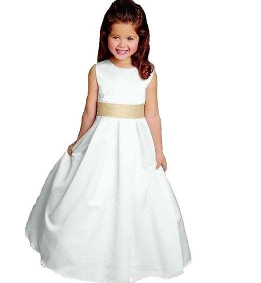 Elegante&zauberhafte #Kommunionkleid Blumenmädchenkleid: Amazon.de ...