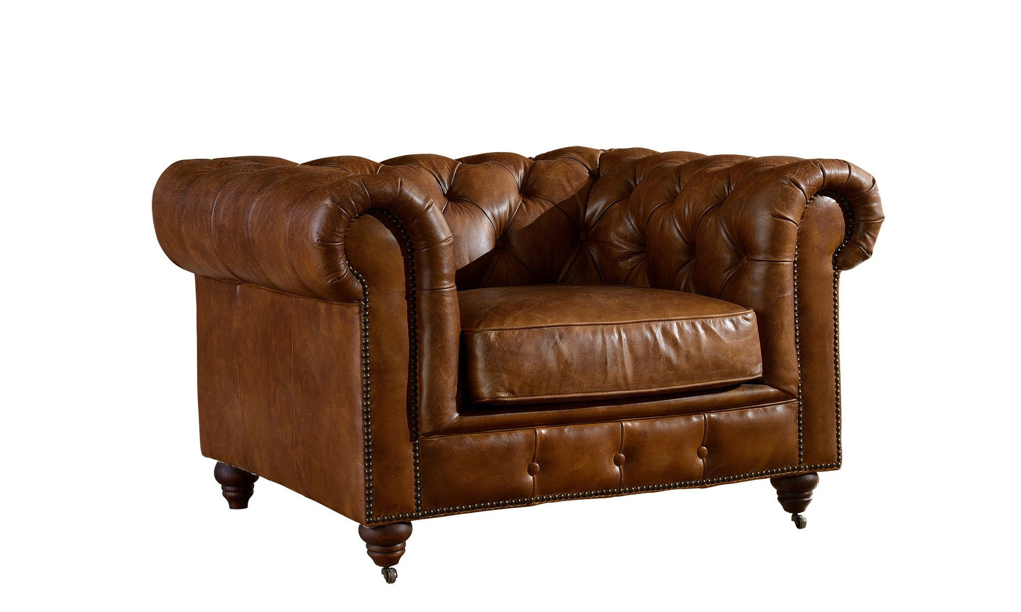 1be990051f1b Century Chesterfield Arm Chair - Light Brown Leather in 2019 ...