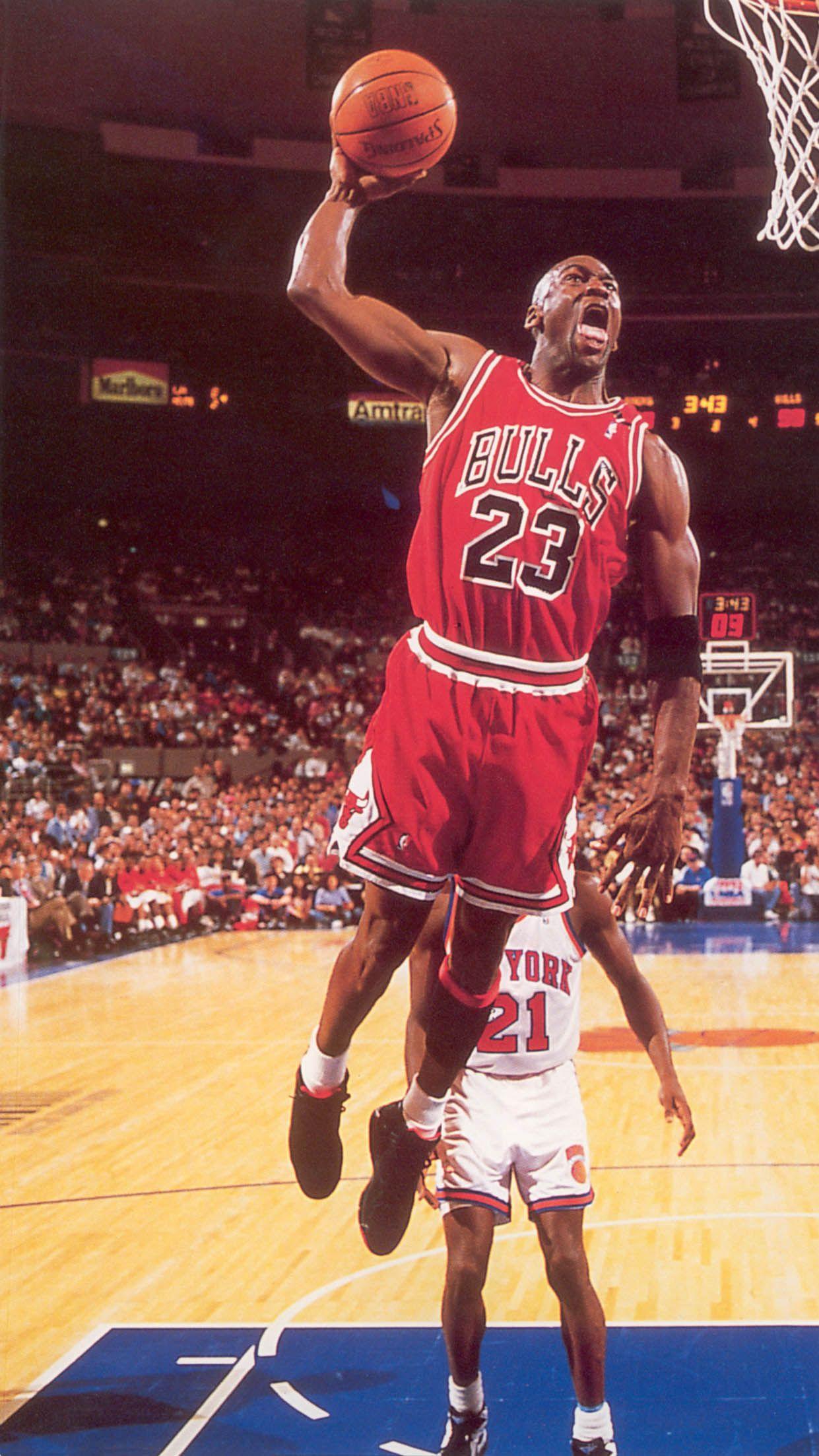 91 92 Knicks Dunk Gerald Wilkins Michael Jordan
