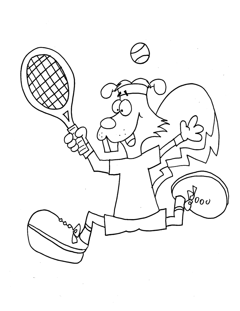 Rats Playing Tennis Coloring Pages For Kids Bhr Printable Tennis Coloring Pages For Kids