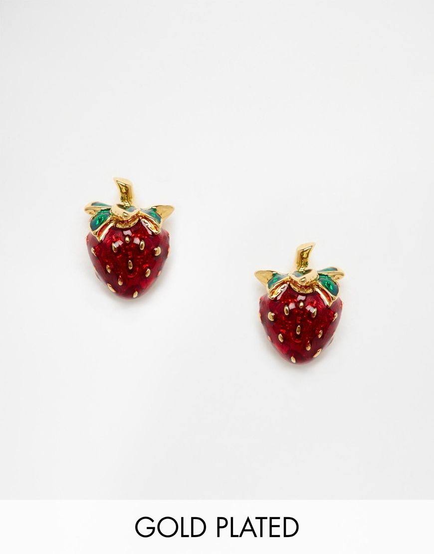 for stud isinyee strawberry fashion gold gifts bohemian cute red in best jewelry women fruit rose piercing mothers from earrings day item