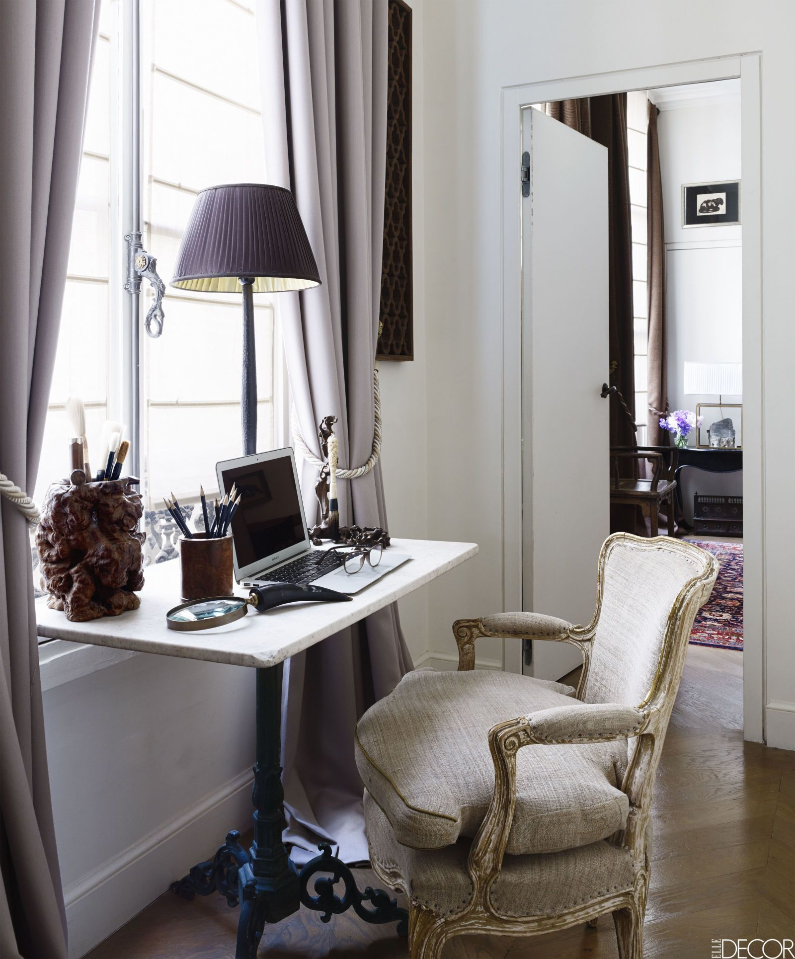 In His New Paris Apartment Designer Christopher Noto Gives Free Rein To Love Of Asian Furniture Artifacts And Handicrafts Without For A Moment