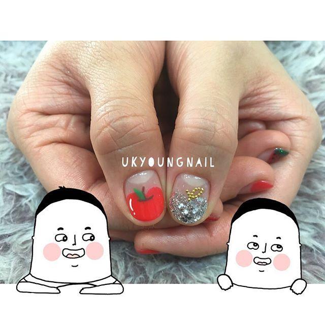 #사과프렌치 #네일 #젤네일 #젤네일아트 #포인트네일아트 #nail #nails #nailart #nailstagram #손스타그램 #일산 #백석동 #일산네일 #백석동네일 #팔로우 #맞팔 #선팔 #소통 #귀여운네일