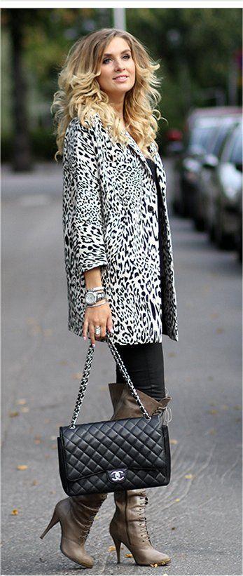 Chanel Bag + Zara Coat