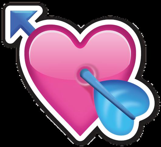 Heart With Arrow Heart Emoji Stickers Emoji Stickers Heart Emoji