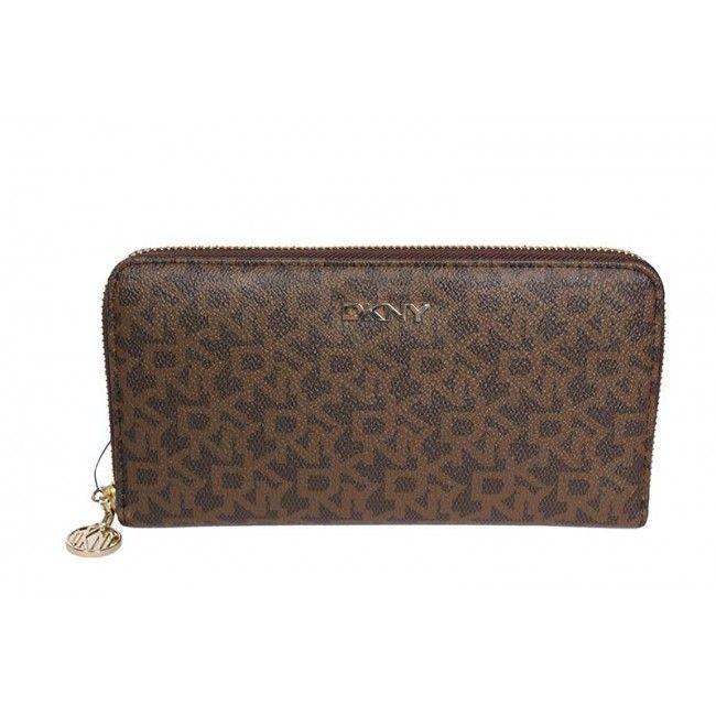 3efc25cc17b DKNY - Portemonnee - bruin | Tassen & accessoires - Bags, Wallet en ...