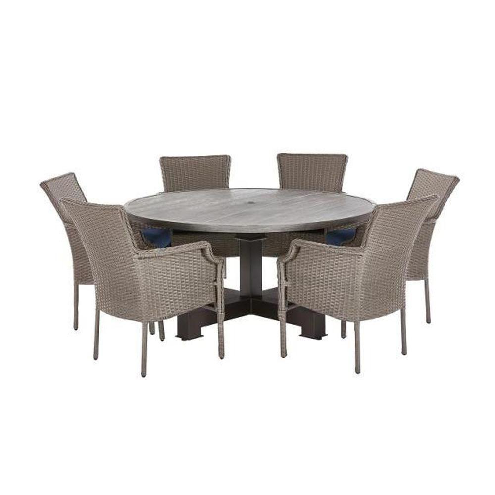 7 Piece Patio Dining Set Round Table - Patio Ideas