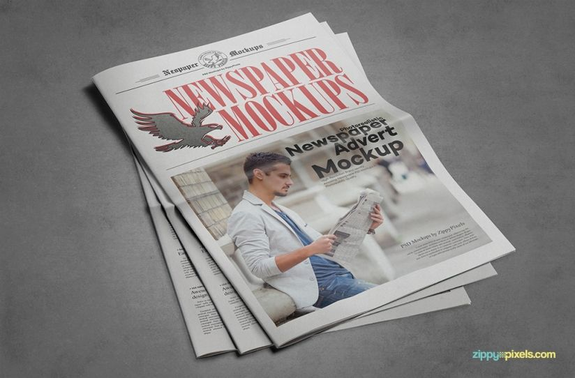 9 Newspaper Psd Advertisement Mockups Mockup Newspaper And Psd