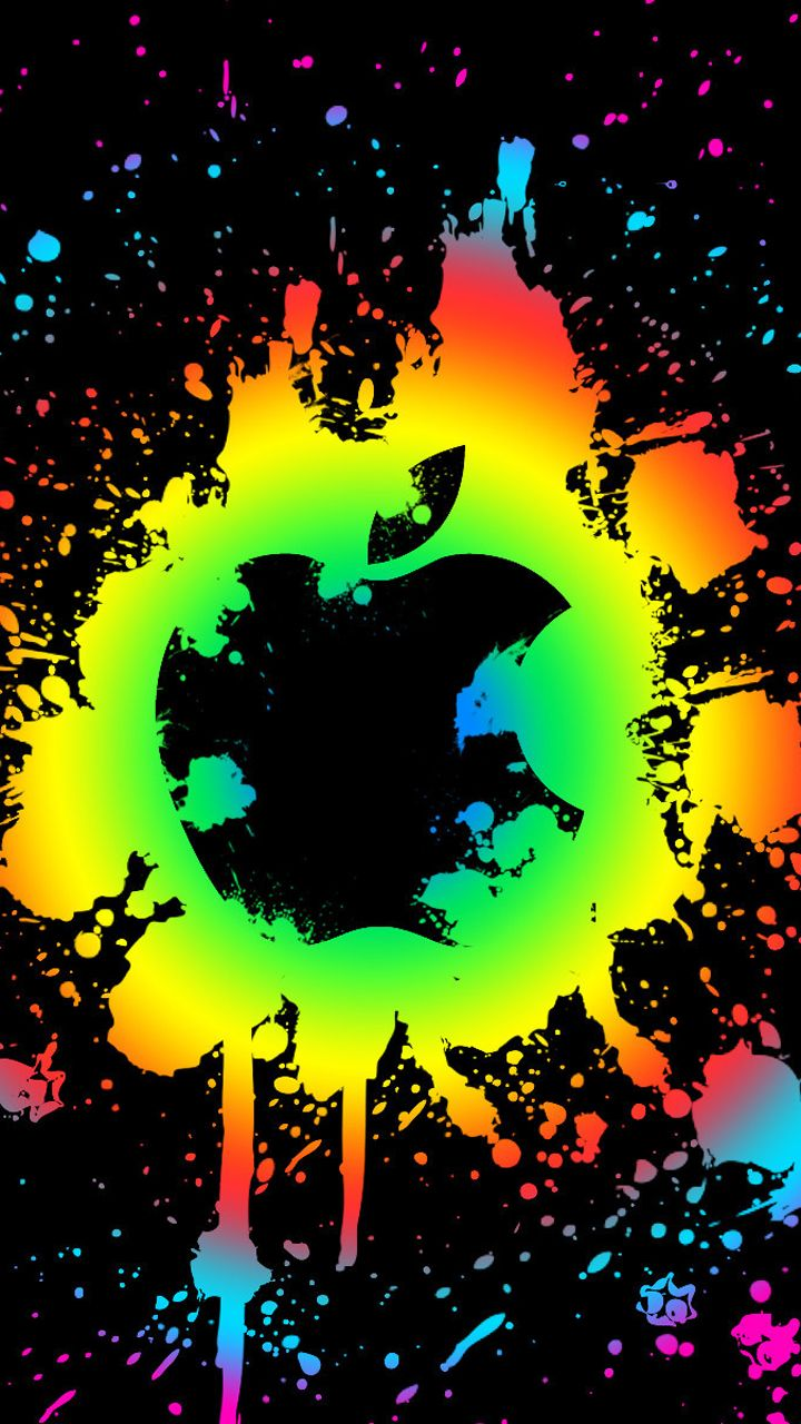 colorful apple logo wallpapers - bing images | apple splash! | apple