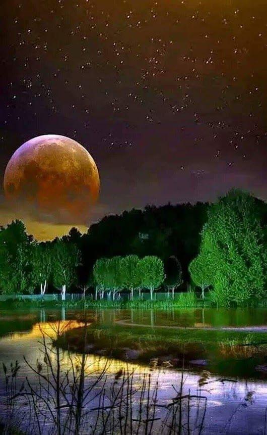 Sunset Sun Moon StarsBeautiful